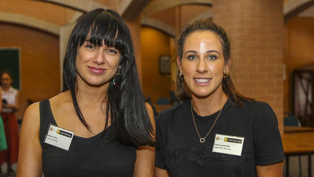 Rebecca Ryan and Cherie May took part in the Curtin RRR women's leadershiop program at WASM Credit: Kalgoorlie Miner